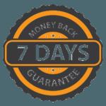 7 Days Money back guaranteed