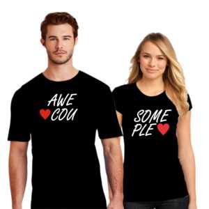 Couple T Shirt Awesome Couple