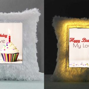 Personalized LED Fur Cushion