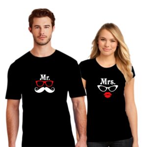 Couple T Shirt Mr Mrs