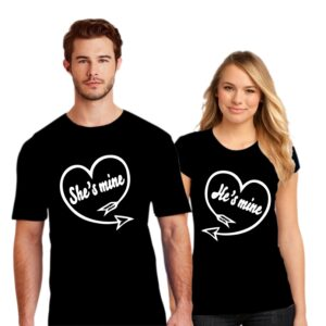 Couple T Shirt She's Mine He's Mine