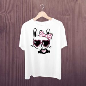 Man Printed T-shirt Cute Cat