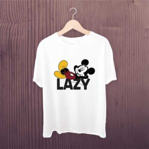 Man Printed T-shirt Lazy Mikey