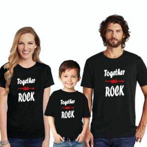 Family T-Shirts For 3 Togather Rock Boy