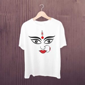 Durga T Shirt White Polyester Dry Fit