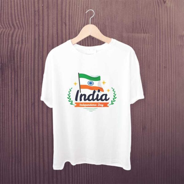 Independence-Day-T-Shirt-Man-White-Printed