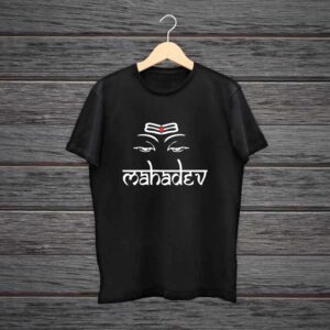 Om Mahadev T Shirts 100% Black Cotton