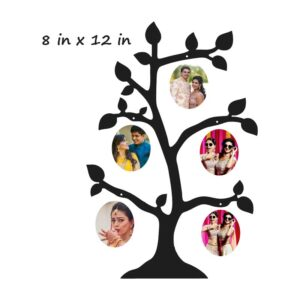 Customized Small Table Top Wooden Tree Photo Stand