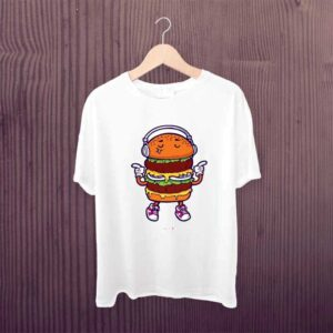 Kids Tshirt Burger Music Lover