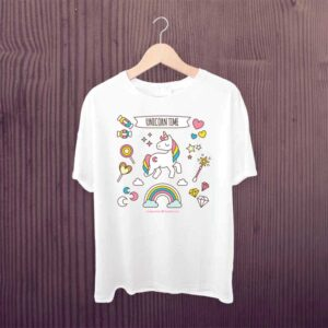 Kids Tshirt Unicorn Time