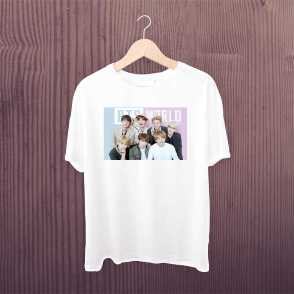 BTS-World-Team-White-Printed-Tshirt