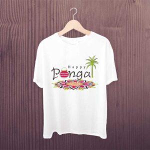 Happy Pongal Festival White Tshirt