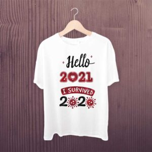 Hello 2021 I survived 2020 Happy New Year Tshirt