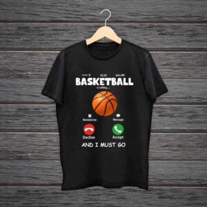 Basketball Is Calling Trending Black Cotton Tshirt