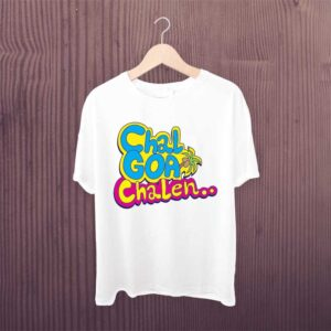 Chal Goa Chalen White Tshirt for Man