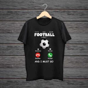 Football Is Calling Trending Black Cotton Tshirt