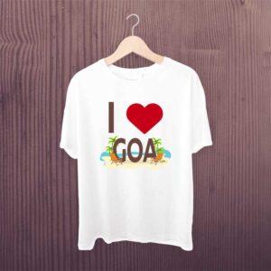 I Love Goa Beach Tshirt From Graphixking