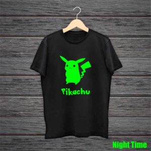 Pikachu Glow In The Dark Black Tshirt