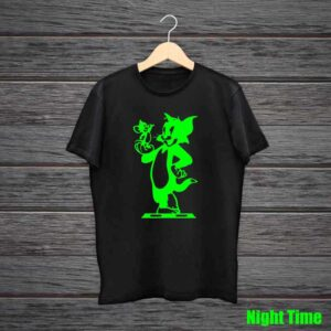 Tom Jerry Glow In The Dark Black Tshirt