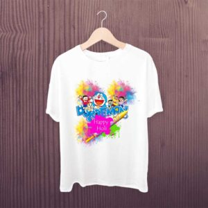Doraemon Happy Holi Kids Tshirt