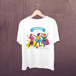 Family Holi Group White Tshirt