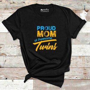 Proud Mom of Awesome Twins Maternity T-Shirt