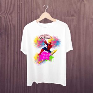 Spider-Man Happy Holi Kids Tshirt