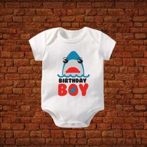 Birthday Boy Shark Baby Romper
