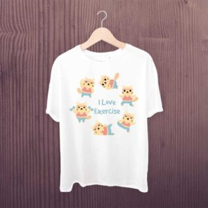I Love Exercise Yoga Tshirt