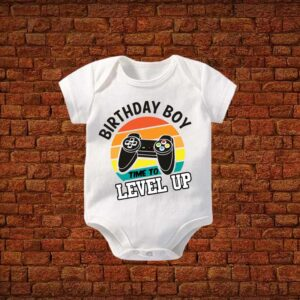 Time To Level Up Baby Romper
