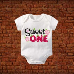 Sweet One Baby Romper