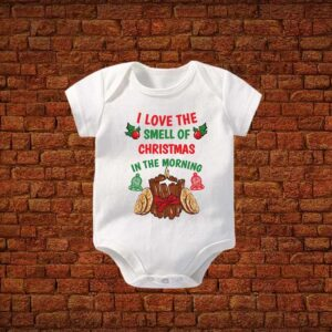I Love The Smell Of Christmas Baby Romper