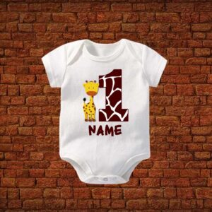 First Birthday Name Baby Romper